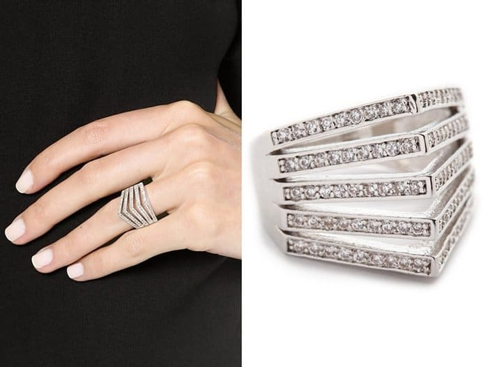 Noir Jewelry Crystal Encrusted Ring