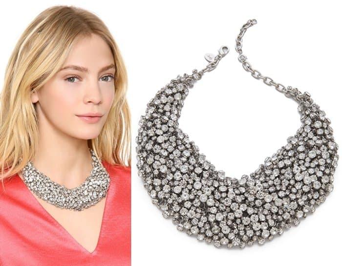 Shay Accessories Crystal Bib Necklace3