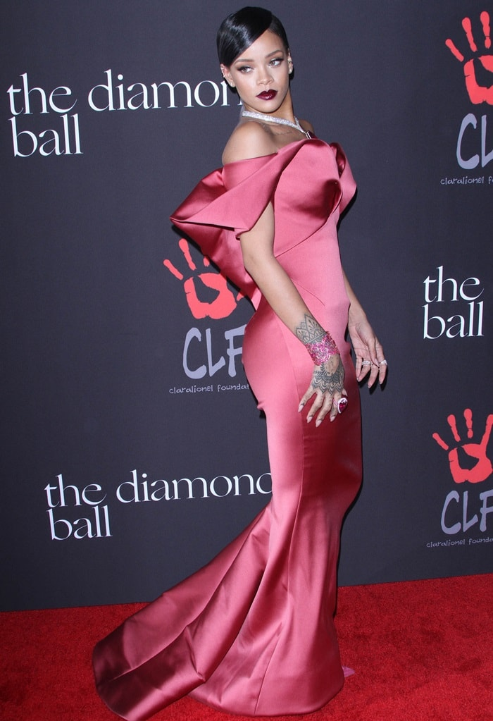 Rihanna was the belle of the ball on Thursday night at the first-ever annual Diamond Ball at The Vineyard