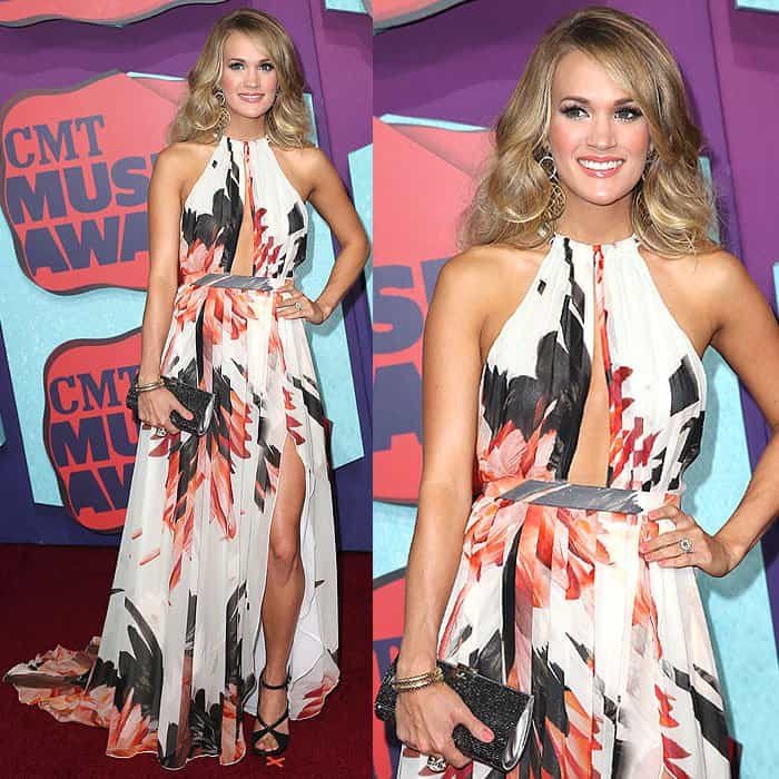 Carrie Underwood at the 2014 CMT Music Awards at Bridgestone Arena in Nashville, Tennessee, on June 4, 2014