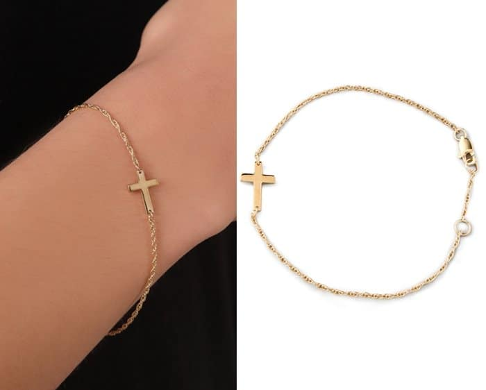 Jennifer Zeuner Jewelry Mini Integrated Cross Bracelet