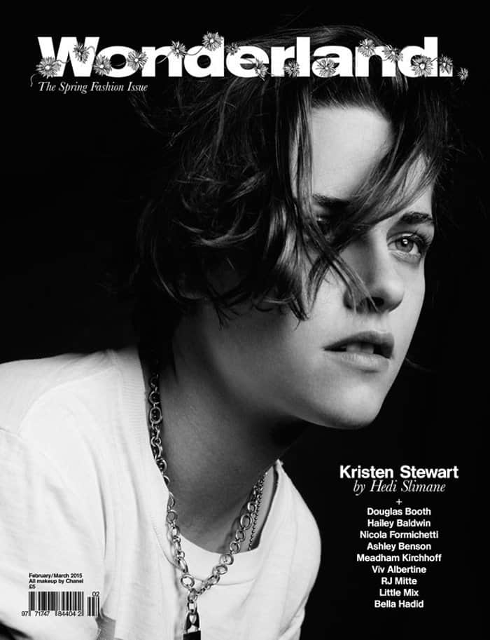 Kristen Stewart is photographed by fashion mogul Hedi Slimane for the February/March 2015 issue of Wonderland Magazine