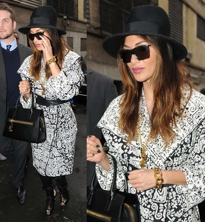 Nicole Scherzinger arrives at the London Palladium for her performance in Cats in London, England, on February 7, 2015