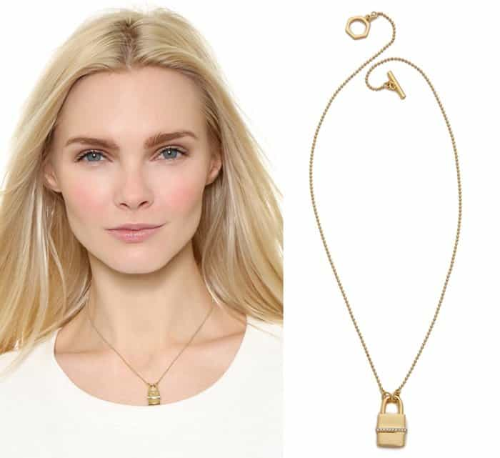 Rachel Zoe Gavriel Small Lock Necklace