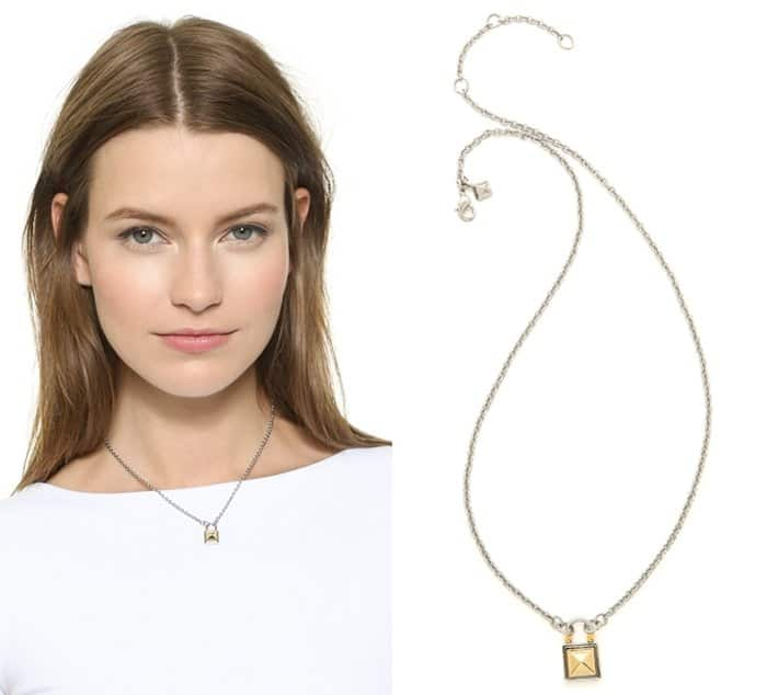 Rebecca Minkoff Short Locked Charm Necklace3