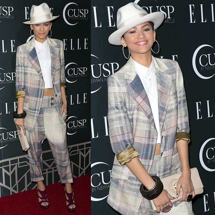 Zendaya at ELLE's 5th Annual Women in Music Concert Celebration, presented by CUSP by Neiman Marcus, in honor of the magazine's May Women in Music issue at Avalon in Hollywood, California, on April 22, 2014