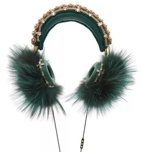 Dolce & Gabbana Green Headphones