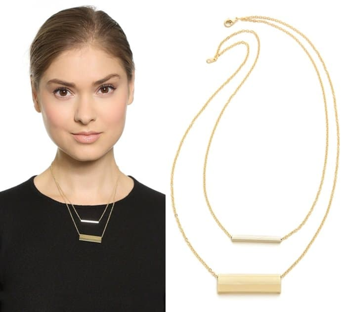 Jules Smith Double Rectangle Necklace3