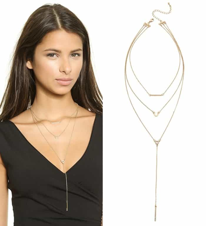 Jules Smith Triple Layer Lariat Charm Necklace3