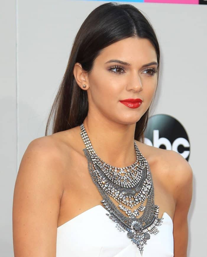 Kendall Jenner wearing DYLANLEX statement necklace