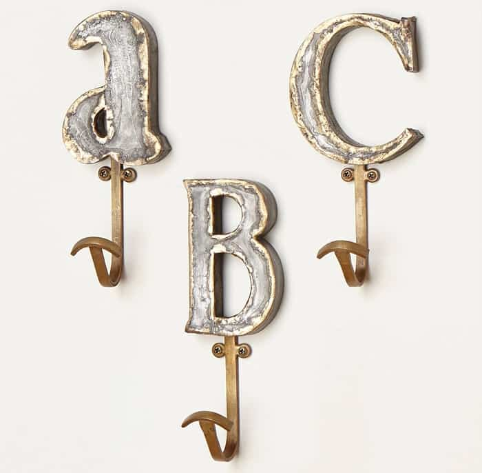 Anthropologie Marquee Letter Hook
