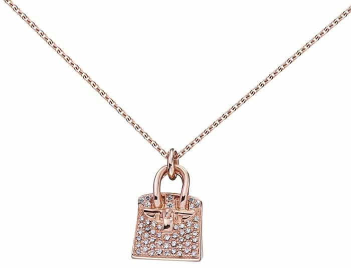 "Hermes ""Birkin"" Charm Pendant in Rose Gold"