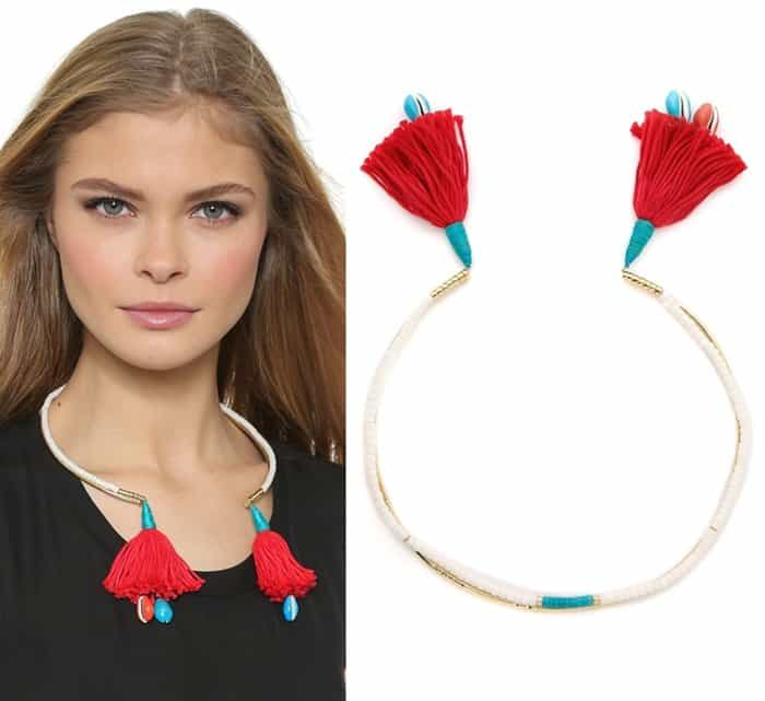 Aurelie Bidermann Tassel Necklace3