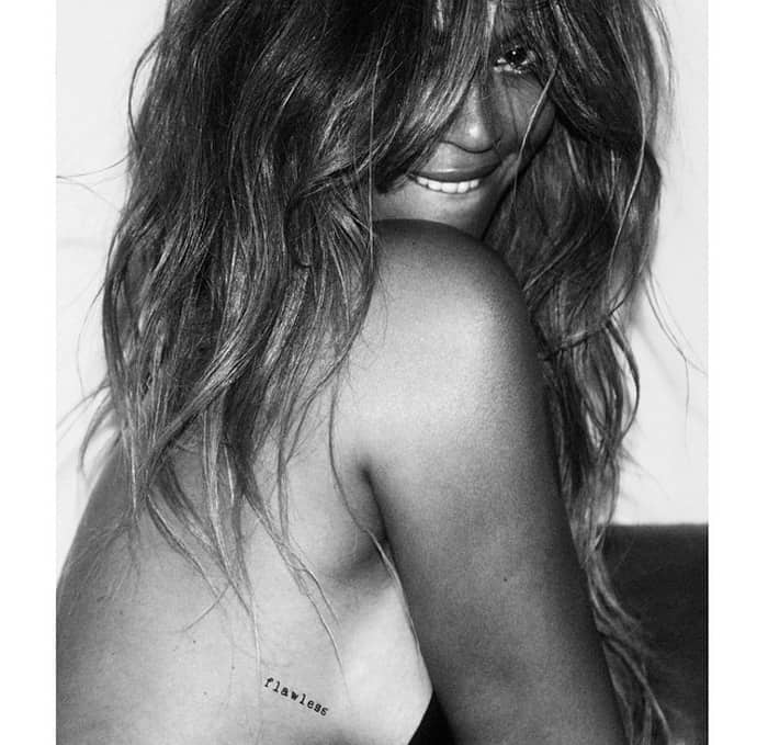 Beyonce partnered with Flash Tattoos and creatively directed and co-designed temporary tattoos