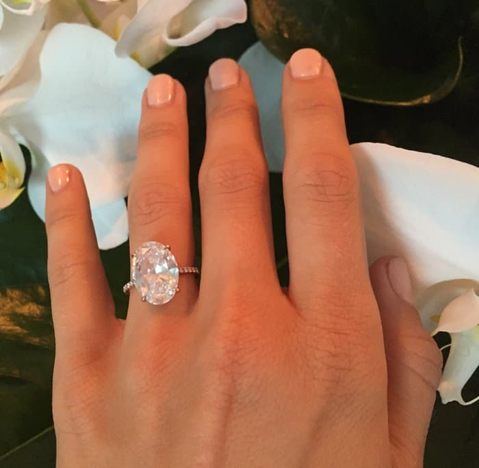 'Dancing with the Stars' judge Julianne Hough recently shared pictures of her engagement ring