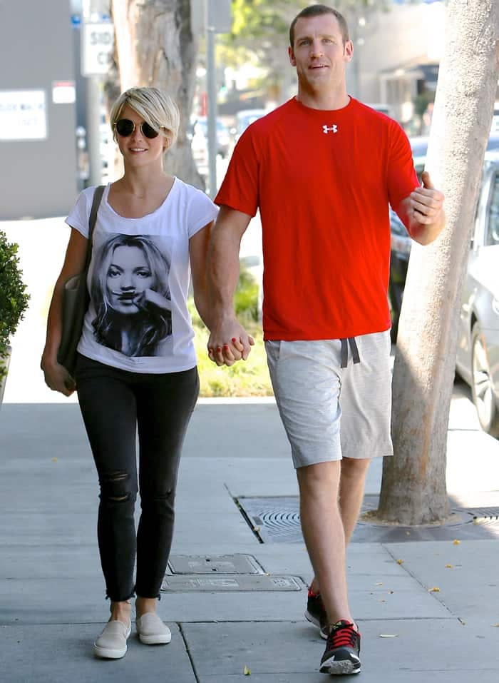 Julianne Hough with Brooks Laich spotted out and about in Los Angeles on April 24, 2015