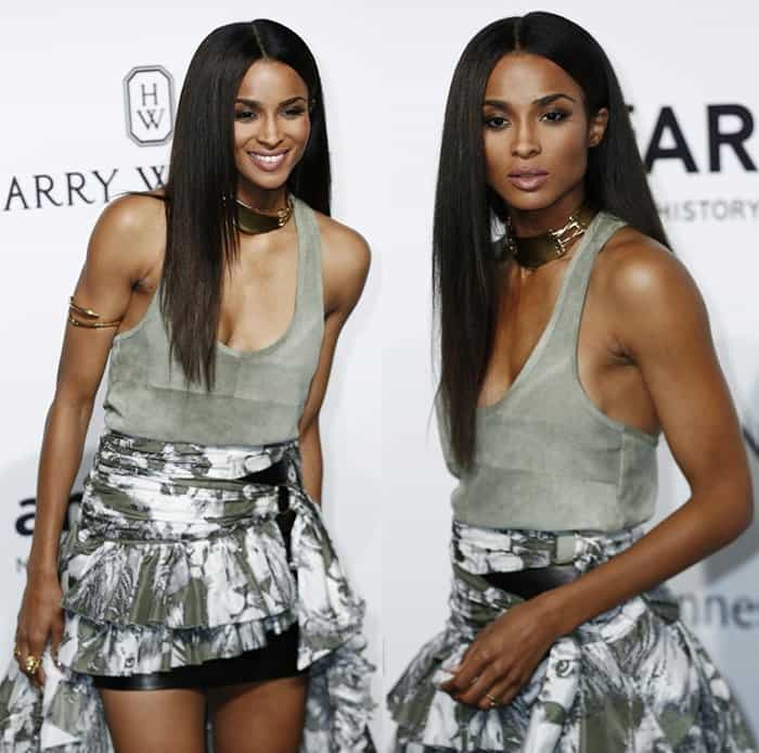 Ciara's striking ensemble received a lot of praise as it was definitely showstopping