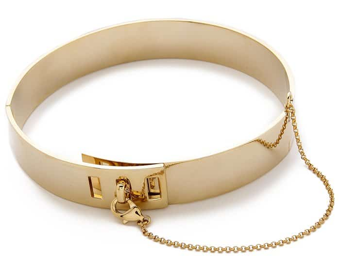 Eddie Borgo Safety Chain Choker in Gold