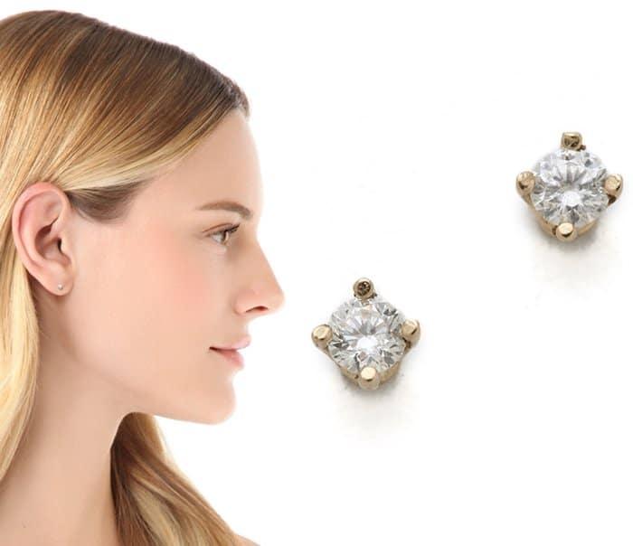 Gabriela Artigas White Diamond Stud Earrings