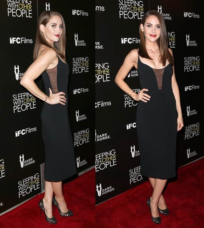 "Alison Brie at the premiere Of IFC Films' ""Sleeping With Other People"""