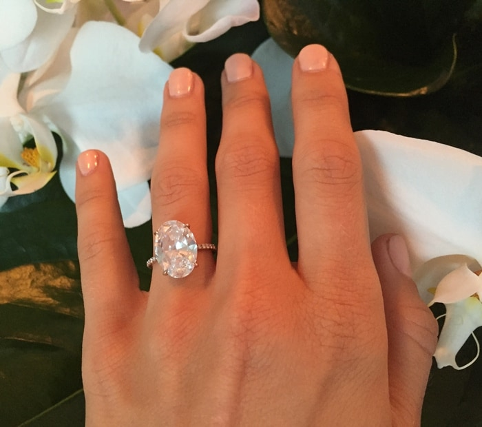 Julianne Hough's beautiful engagement ring is approximately seven carats