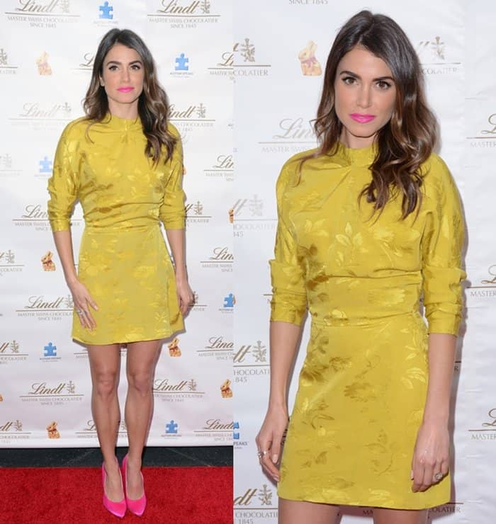 Nikki Reed celebrates the launch of the Lindt Gold Bunny celebrity auction benefitting Autism Speaks