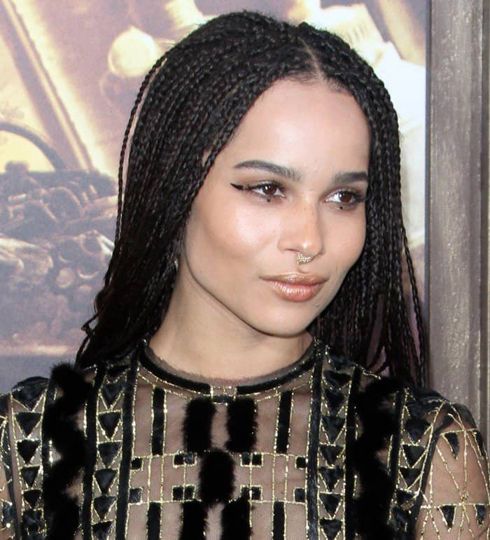 Zoe Kravitz wearing the small thorn septum ring