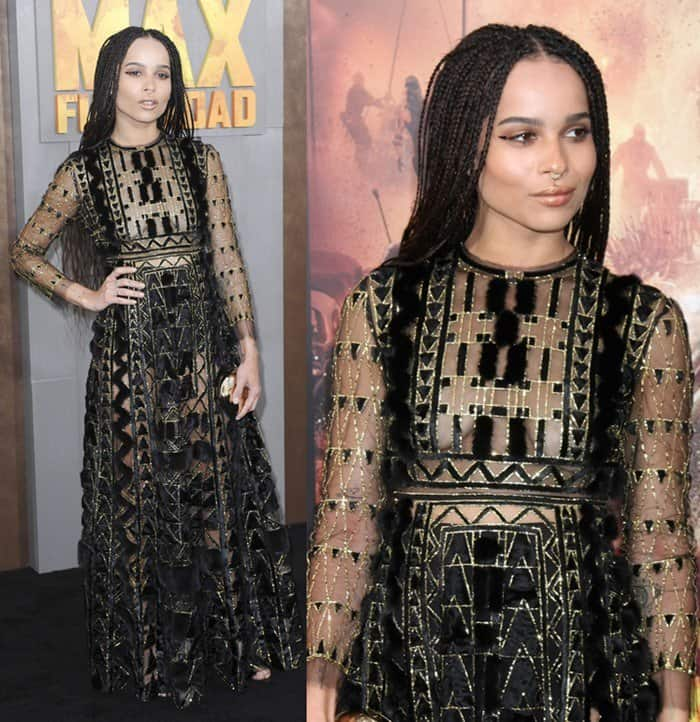 Zoe Kravitz at the premiere of 'Mad Max: Fury Road' held at the TCL Chinese Theatre in Los Angeles on May 7, 2015
