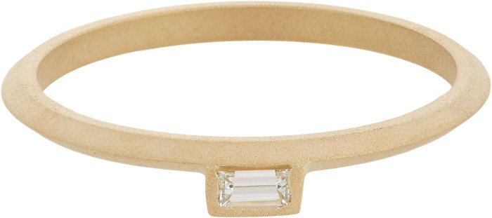 Monique Pean Baguette Diamond & Gold Suspension Stacking Band