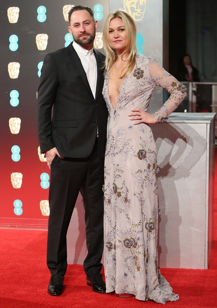 Preston J.Cook and his wife Julia Stiles attend the 70th EE British Academy Film Awards