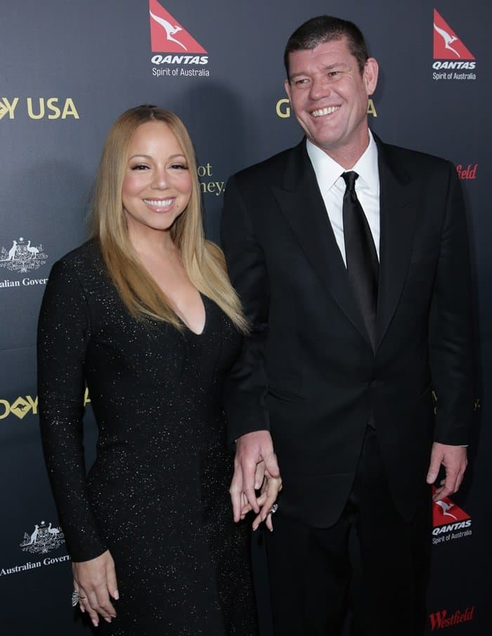 Mariah Carey showed off her engagement ring designed by New York-based jewelry designer Wilfredo Rosado