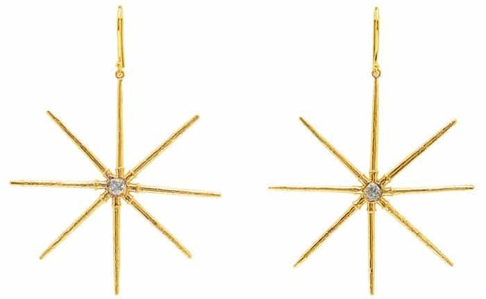 Elisabeth Bell Jewelry Sea Urchin Star Gold
