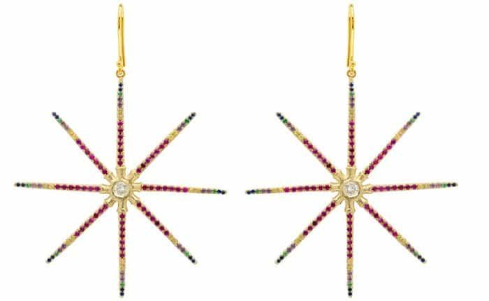 Elisabeth Bell Jewelry Sea Urchin Star Rainbow