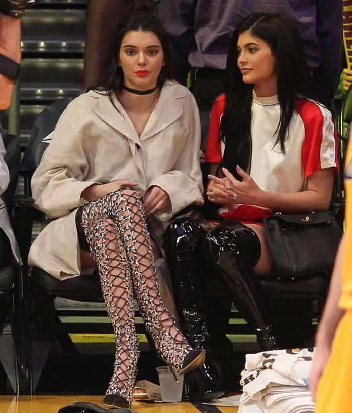 Kendall Jenner with Kylie Jenner