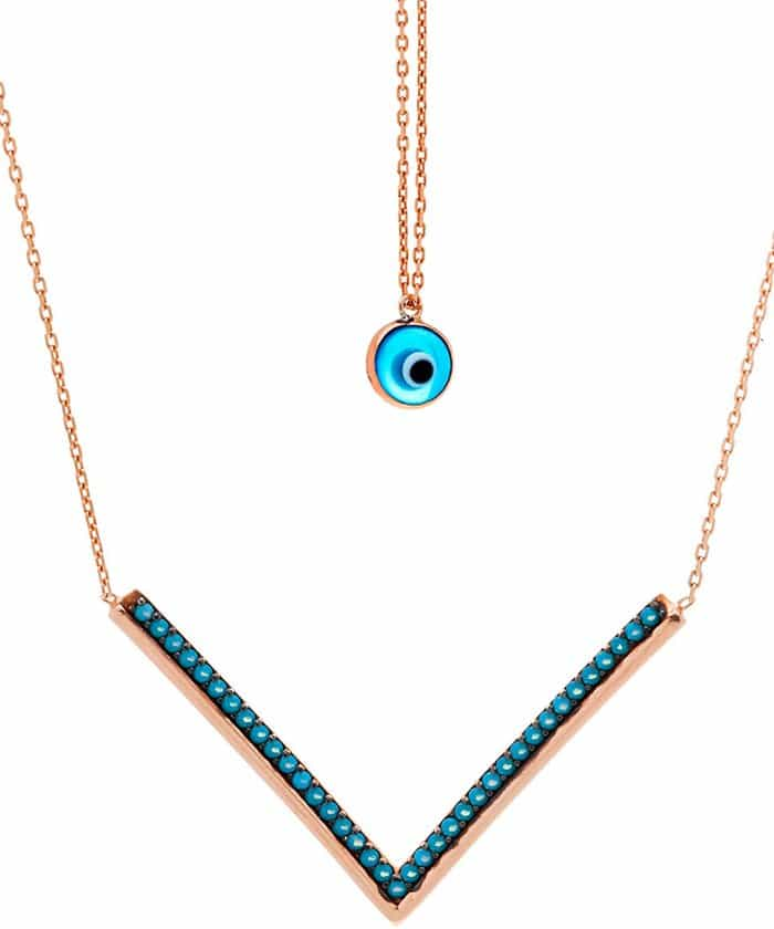 Lord & Taylor Cubic Zirconia Evil Eye Necklace
