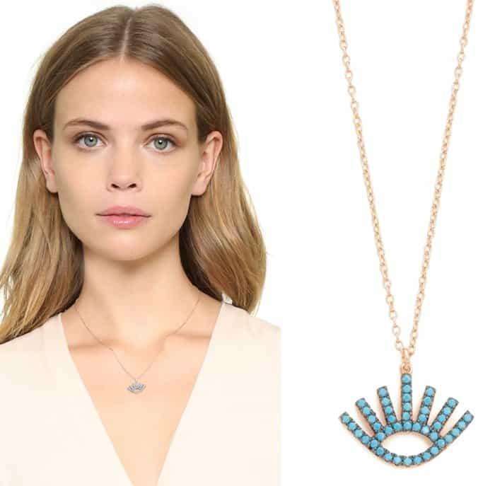 Shashi Open Evil Eye Turquoise Necklace