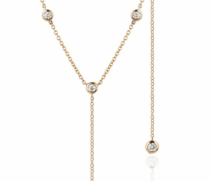 EF Collection 8 Bezel Diamond Lariat