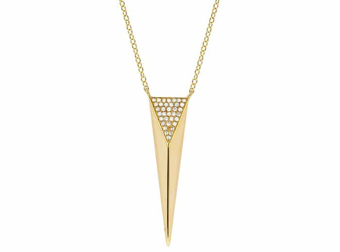 EF Collection Partial Diamond Spike Necklace