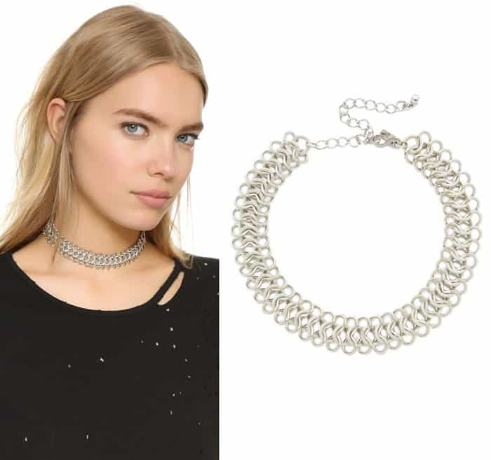 Kenneth Jay Lane Intertwined Choker Necklace3