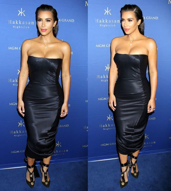 Kim Kardashian West hosts an evening at Hakkasan Las Vegas Nightclub inside MGM Grand Hotel & Casino on July 22, 2016