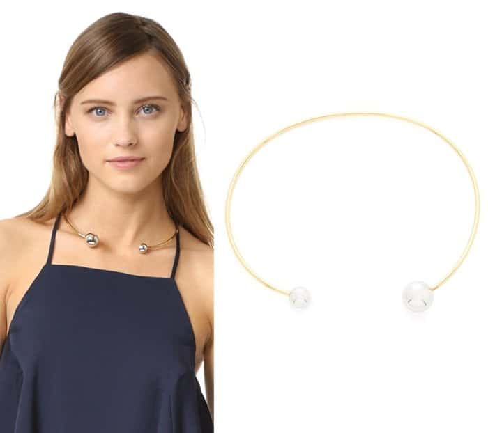Rebecca Minkoff Two Tone Bead Collar Necklace3