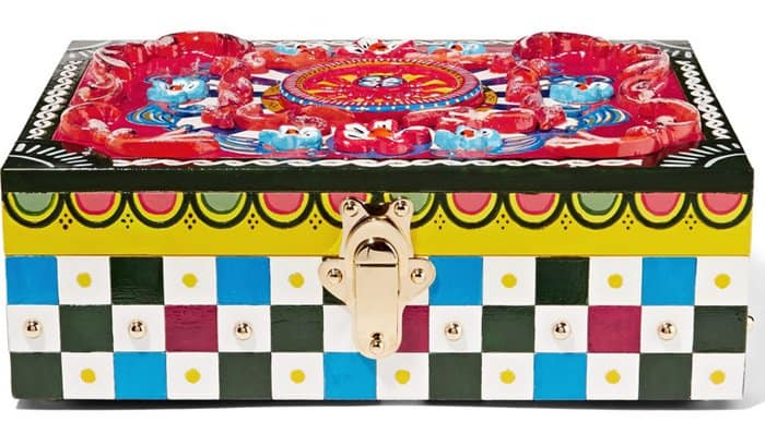 Dolce & Gabbana Caretto Painted Carved Wood Jewelry Box
