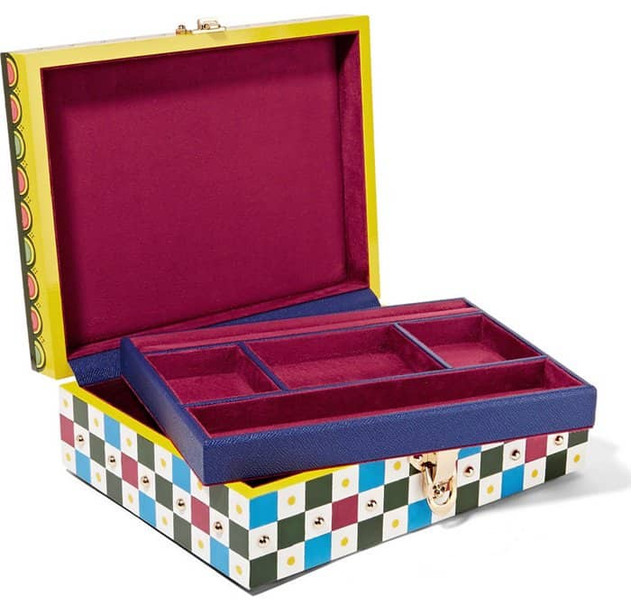 Dolce & Gabbana Caretto Painted Carved Wood Jewelry Box4
