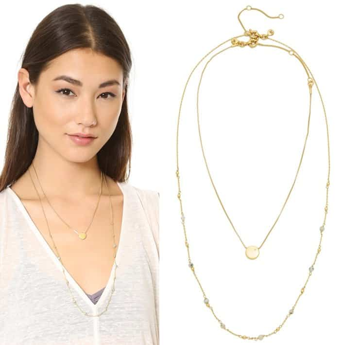 Madewell Coin Dot Double Layer Necklace3