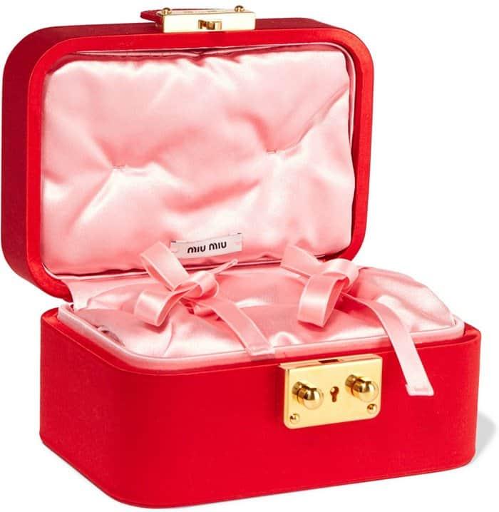 Miu Miu Satin Jewelry Box