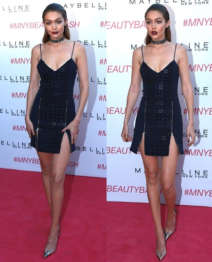 Gigi Hadid attends the Maybelline New York celebration of her latest collection at The Line Hotel on June 3, 2016, in Los Angeles, California