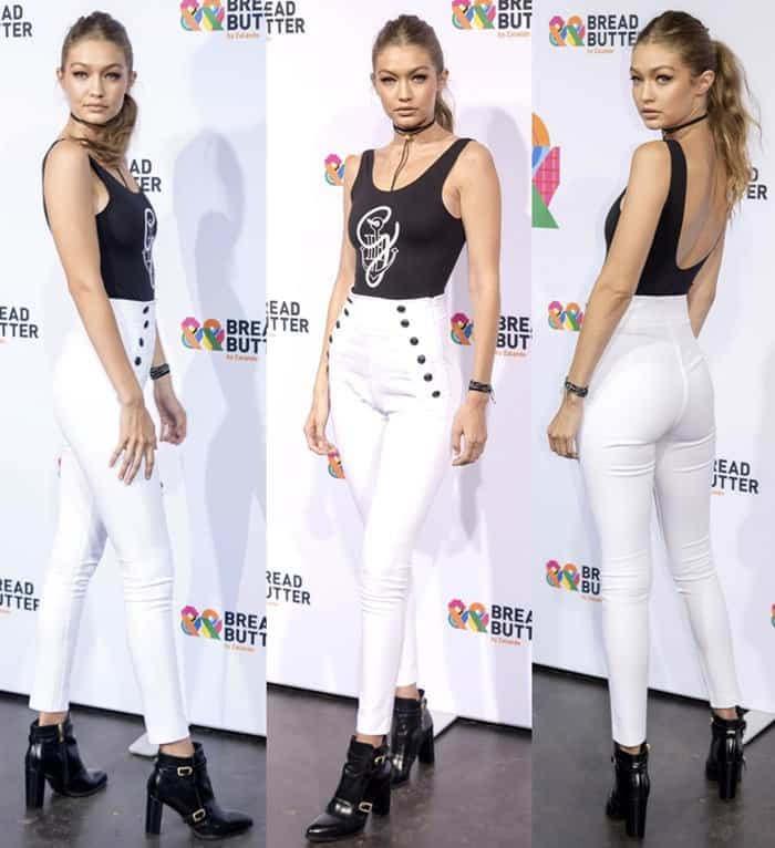 Gigi Hadid attending the Puma fashion show during the 2016 Bread & Butter Festival by Zalando, at Arena Berlin in Germany on September 2, 2016