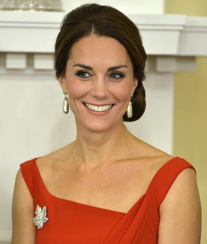 Kate Middletonmaple leaf diamond brooch