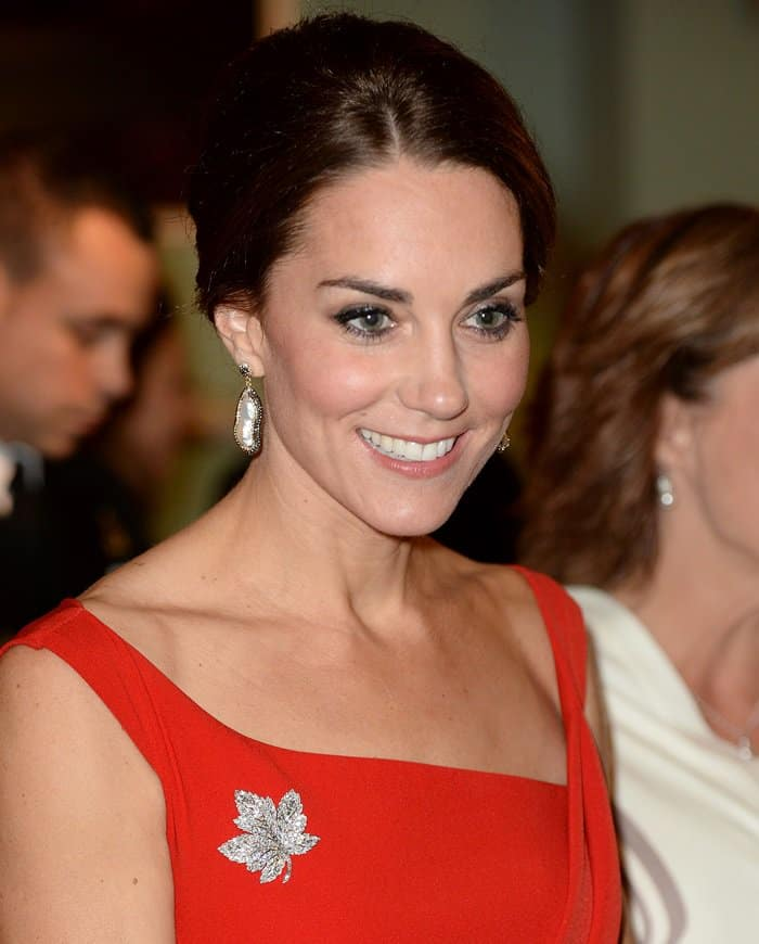 Kate Middleton chose a standout diamond brooch for her Canadian tour