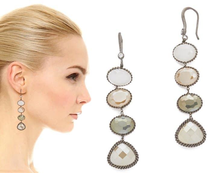 Theia Jewelry Lizzie Linear Drop Earrings